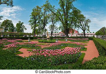 Garden of Peterhof in Russia