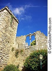 Garden of ruins, Evora.