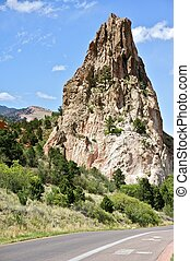 Garden of the Gods is a Public Park Located in Colorado...