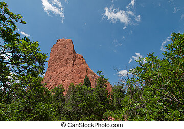 Garden of the Gods Rock Formation in Colorado.