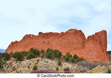 Garden Of The Gods rock formations near Colorado Springs.