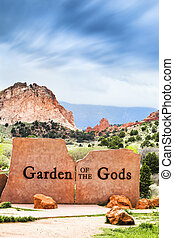 Garden of the Gods Sign - Garden of the Gods Natural Park,...