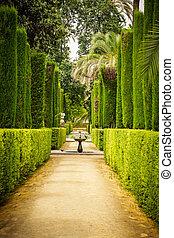 Garden of the Poets in Alcazar, Sevilla - Garden of the ...