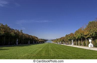 Garden of Versailles Palace - VERSAILLES - October 19:...