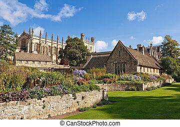 garden., oksford, memoriał, anglia, wojna
