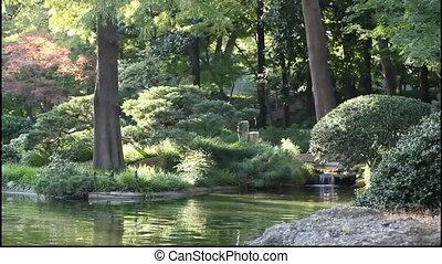 garden., paisible