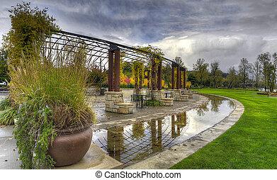 Garden Park in the Fall Season