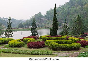 garden., park., landscaped, formeel