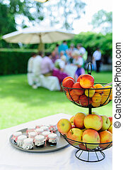 Garden Party with Fruit Bowl - Garden Party, in the...