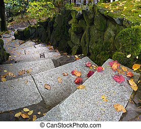 Garden Path Granite Stone Steps