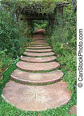 Path in a Thai public garden