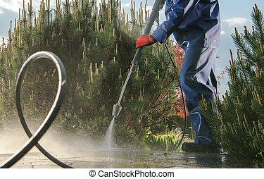 Garden Paths Power Washing