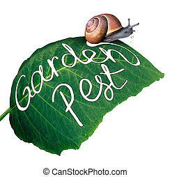 Garden Pest - Garden pest symbol and gardening problem as a...