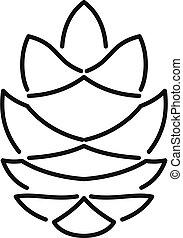 Garden pine corn icon, outline style