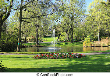 Garden plants in spring (Nantes - France)