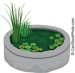 Garden Pond Design Illustration
