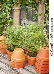 Garden potting area