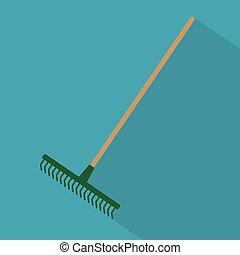 garden rake tool icon- vector illustration