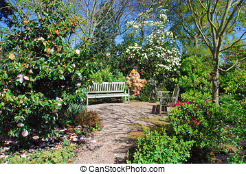 Garden retreat, calm and relaxing view
