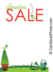 Garden Sale - A portrait format garden sale themed poster...