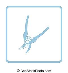 Garden scissors icon