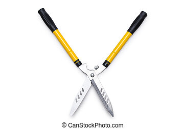 Garden scissors isolated on white