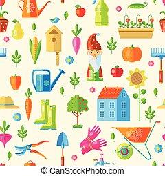 Garden Seamless Pattern