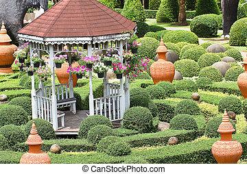 garden., sedere