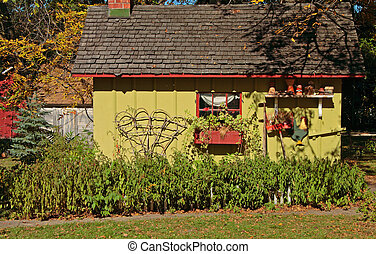 Garden Shed - Garden shed in Bishop Hill, Illinois.