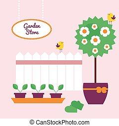 Garden shop banner