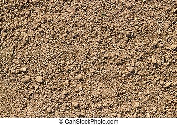 Garden soil texture close up.