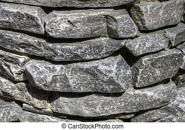 Garden Stacked Stone Wall