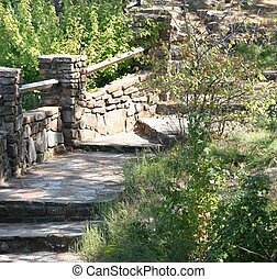 Garden Steps - Walkway in Ozark Mountains
