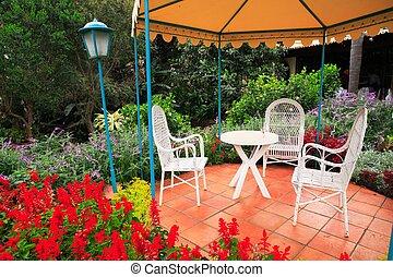garden - tropical garden scene