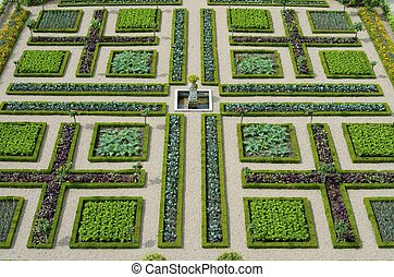 garden - foreground of the garden of the castle of...