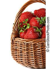 Garden strawberries.
