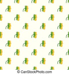 Garden sunflower pattern seamless vector