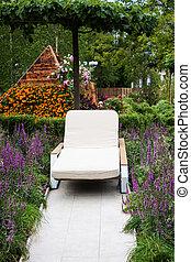 garden., szék, fedélzet
