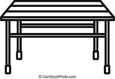 Garden table icon, outline style