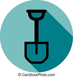 Garden tool detailed vector illustration, simple shovel isolated on white. Classic spade, garden instrument.