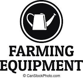 Garden tool logo, simple style