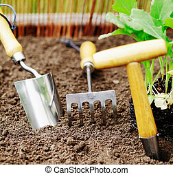 Garden tools for transplanting and weeding - Garden tools ...