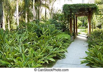 Garden - Tranquil  gazebo with plant around