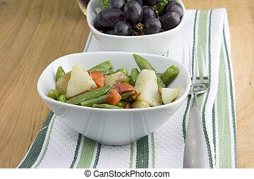 garden vegetable medley closeup