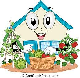 Garden Vegetables Harvest School Mascot