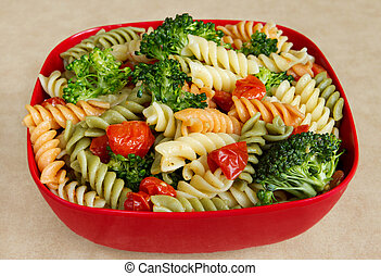 garden veggie salad - garden rotini with broccoli and...