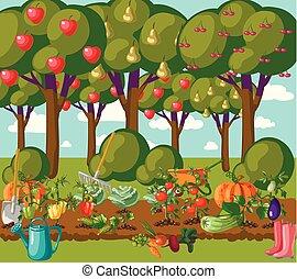 garden., vektor