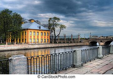 garden., verano, peter, casa, russia., saint-petersburg, ...