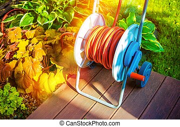Garden Watering by Hose