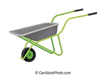 Garden Wheelbarrow as Handy Tool for Carrying Crops and Soil Vector Illustration